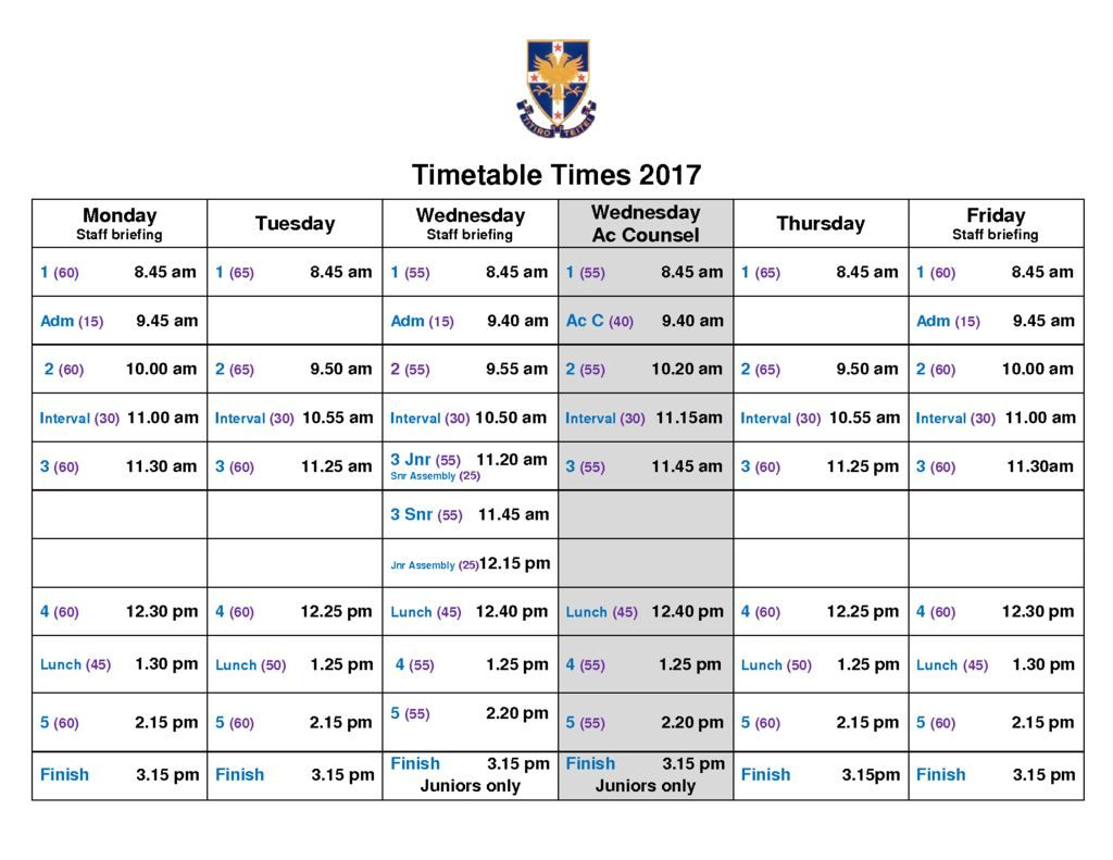 thumbnail of Bell Times 2017
