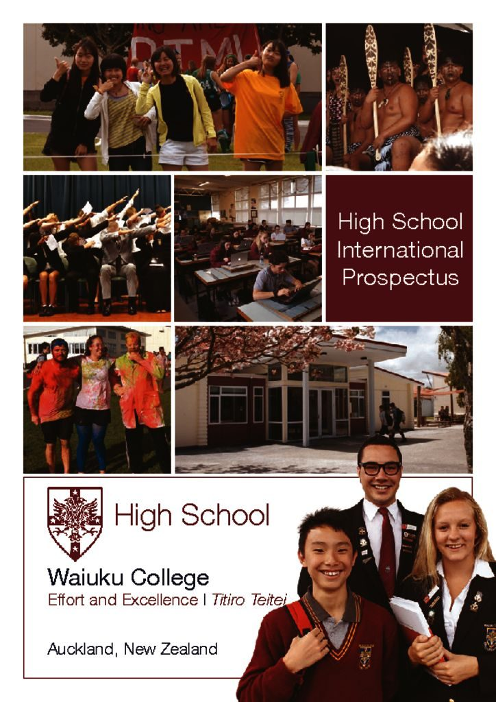thumbnail of Waiuku College International Prospectus